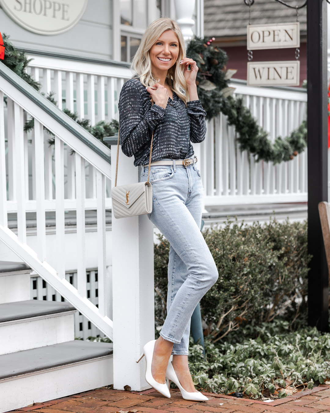 winter white outfit accessories The Glamorous Gal