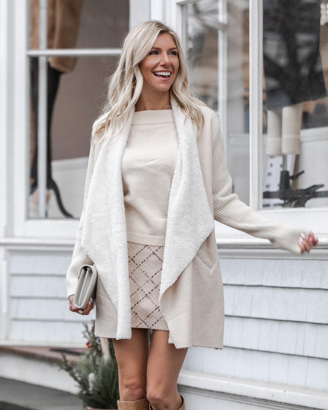 winter white outfit details The Glamorous Gal