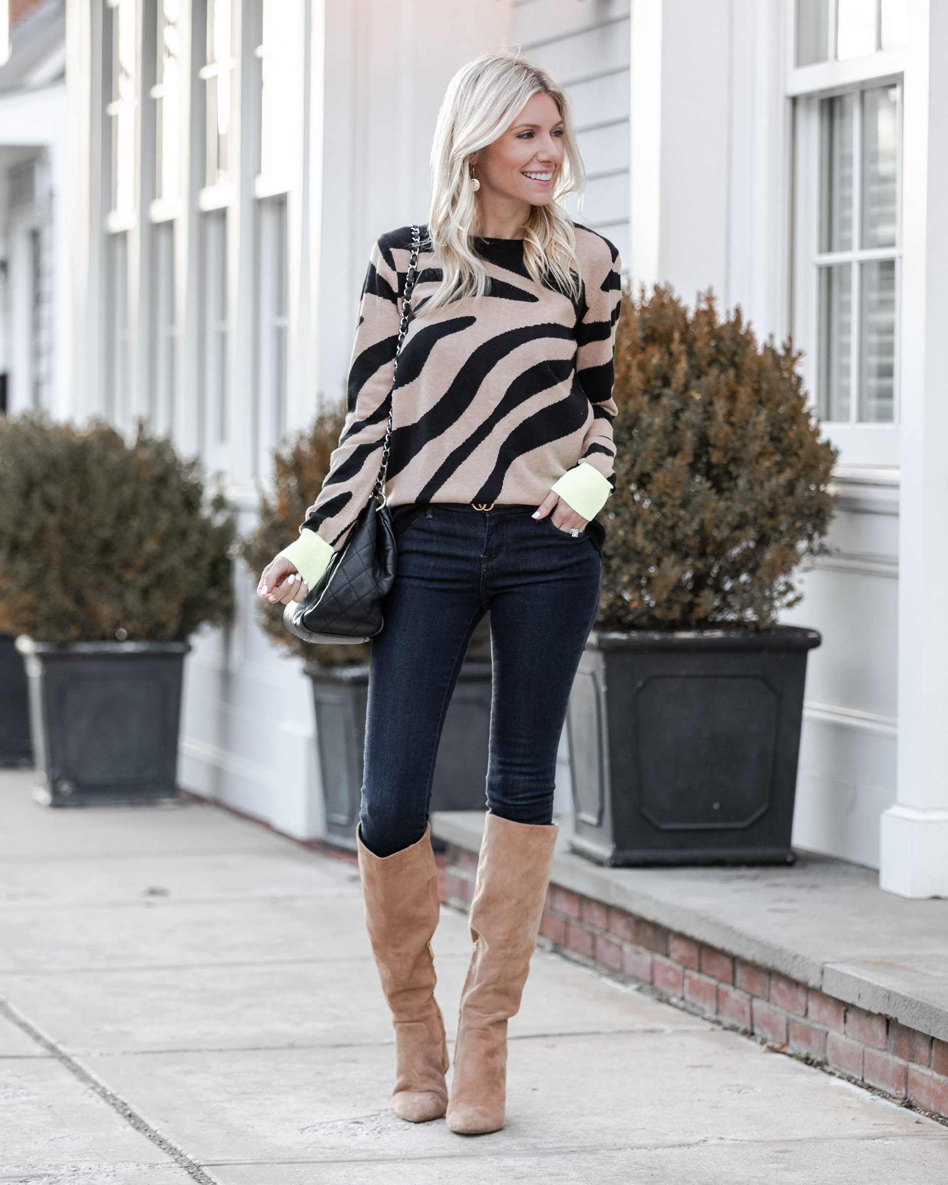 zebra-sweater-with-neon-details-the-glamorous-gal
