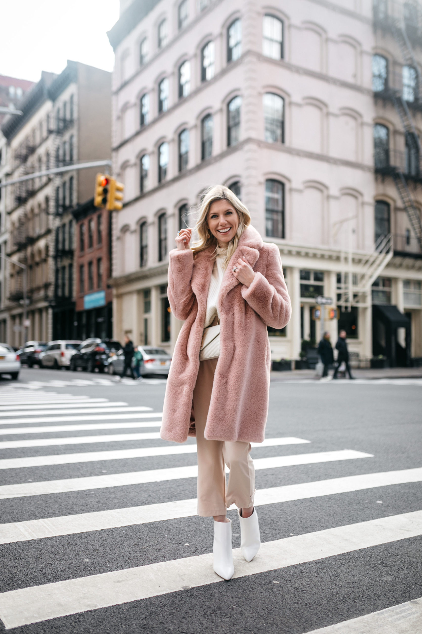 blush outfit for spring