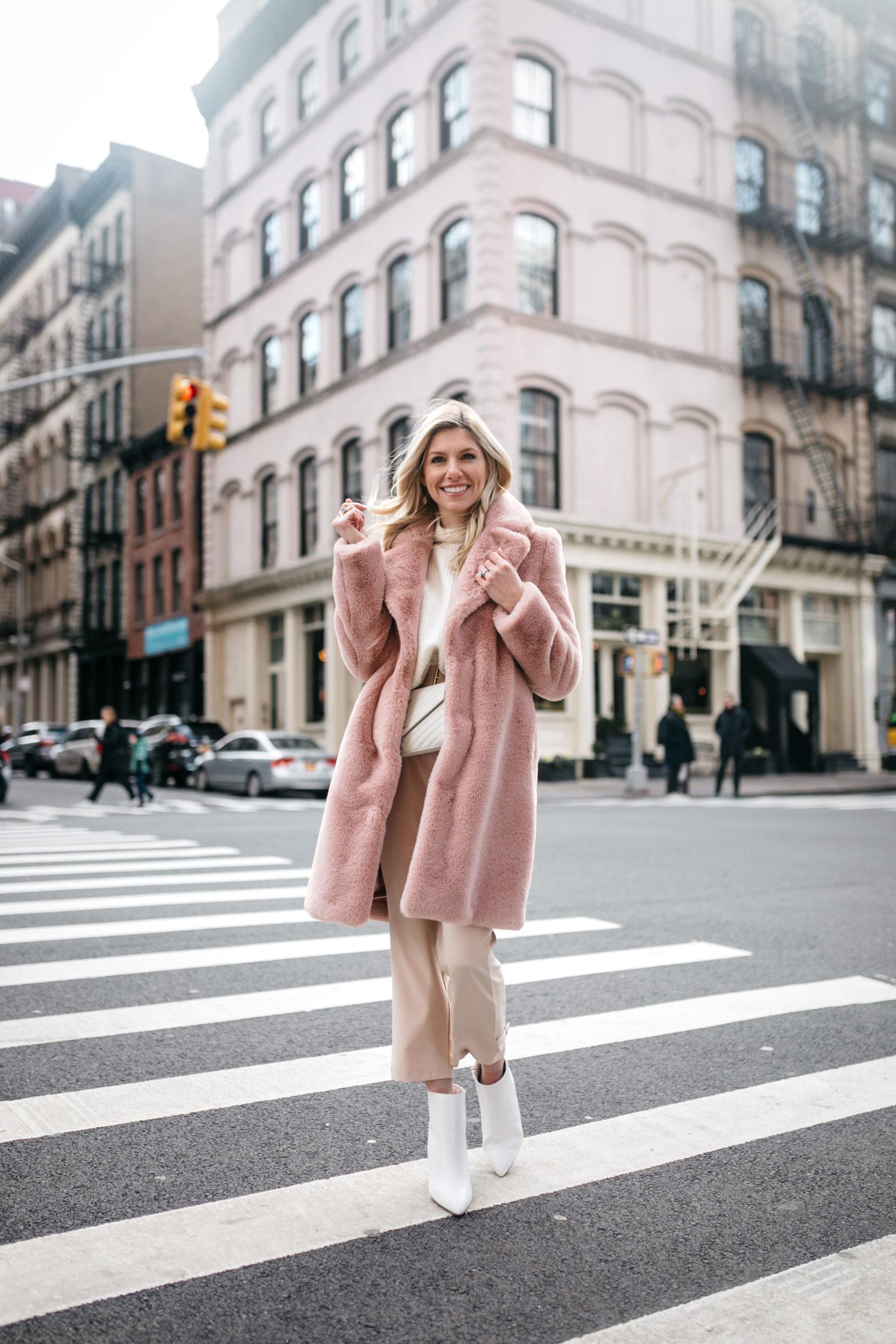cozy blush outfit details