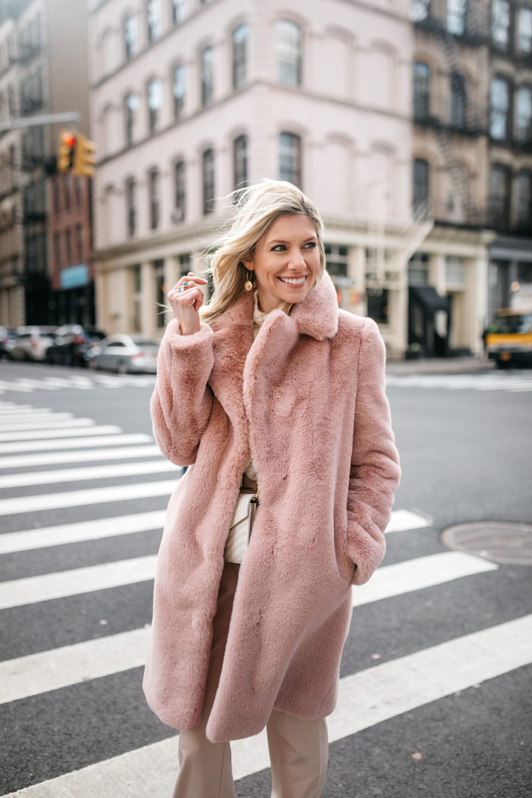 cozy blush jacket from revolve