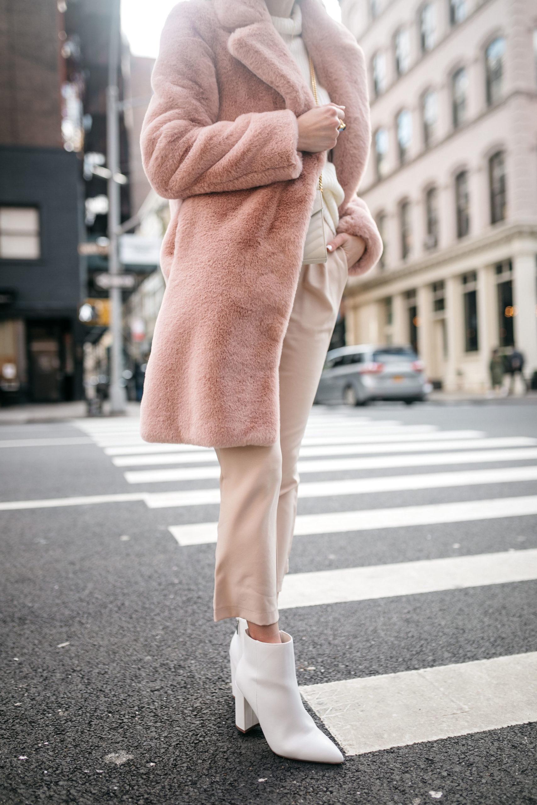 cropped blush pants