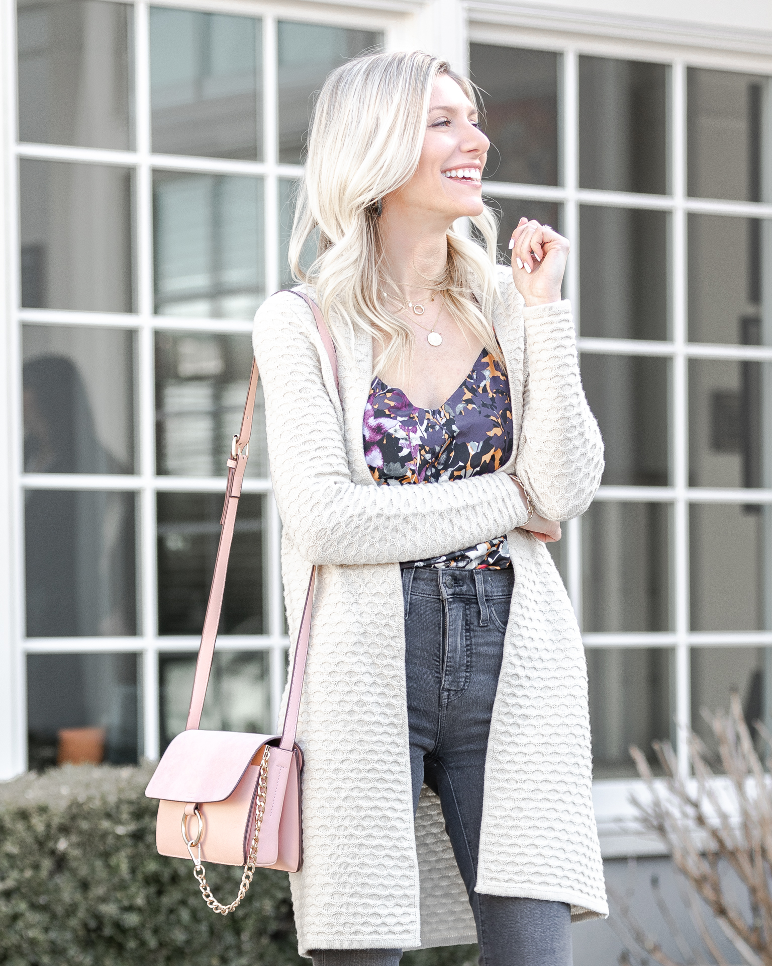 how-to-wear-a-tucked-tank-under-a-sweater-the-glamorous-gal