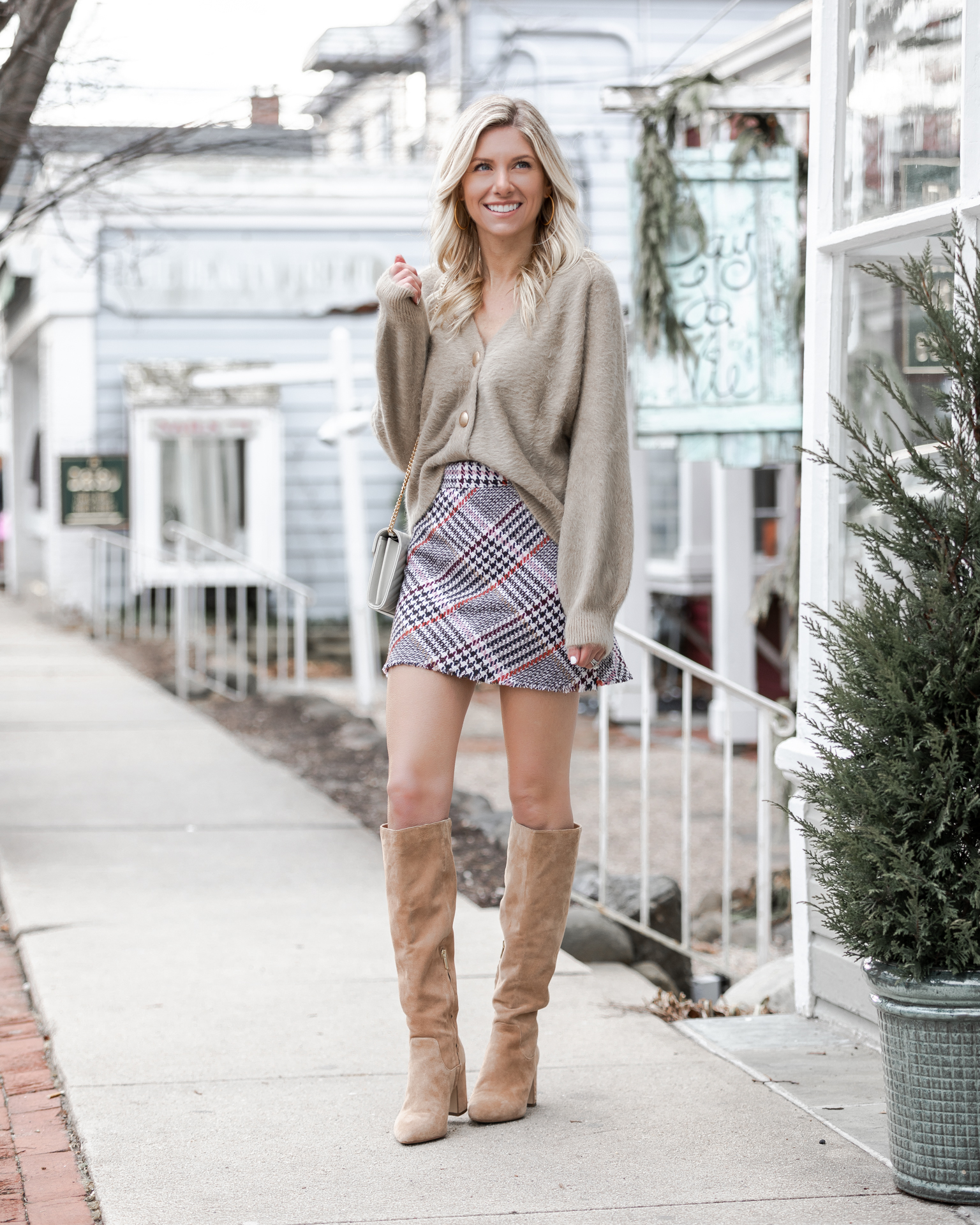 over-the-knee-boots-and-plaid-skirt-the-glamorous-gal