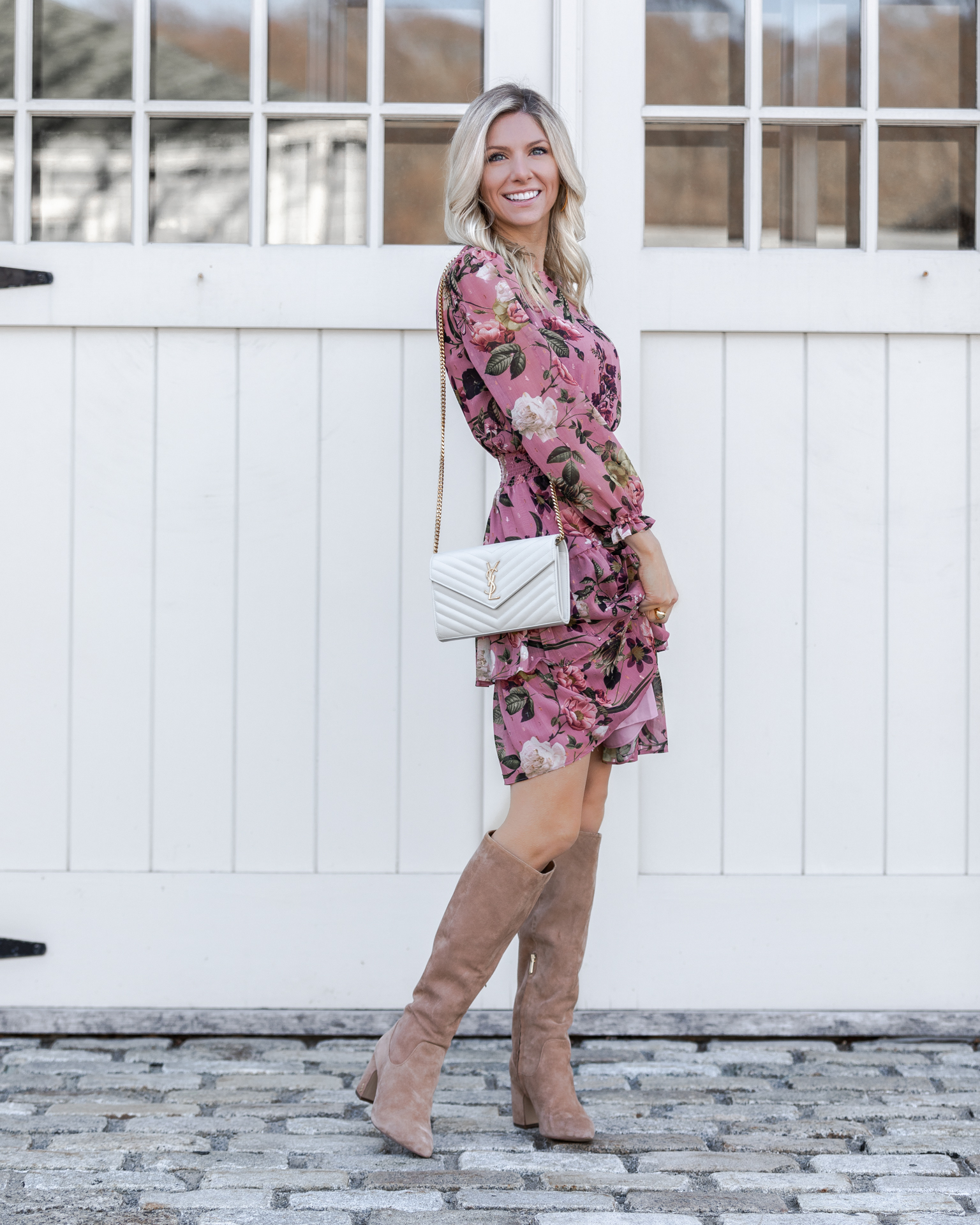 pink-floral-dress-and-over-the-knee-boots-the-glamorous-gal
