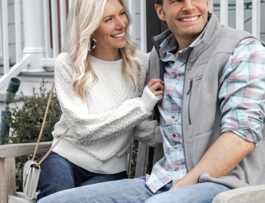 southern-shirt-white-sweater-gray-vest-plaid-button-down-the-glamorous-gal