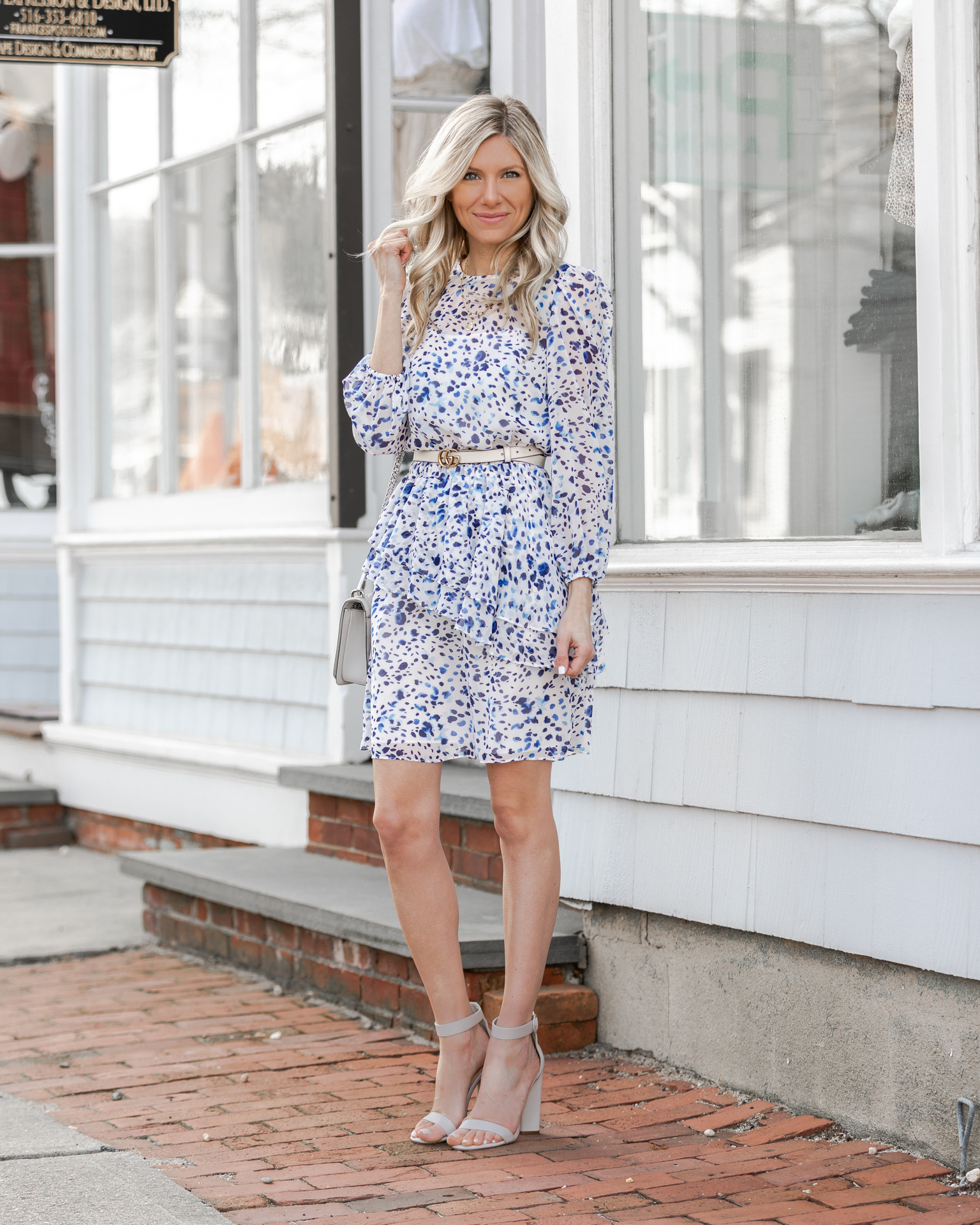blue-and-white-eliza-j-dress-for-spring-the-glamorous-gal