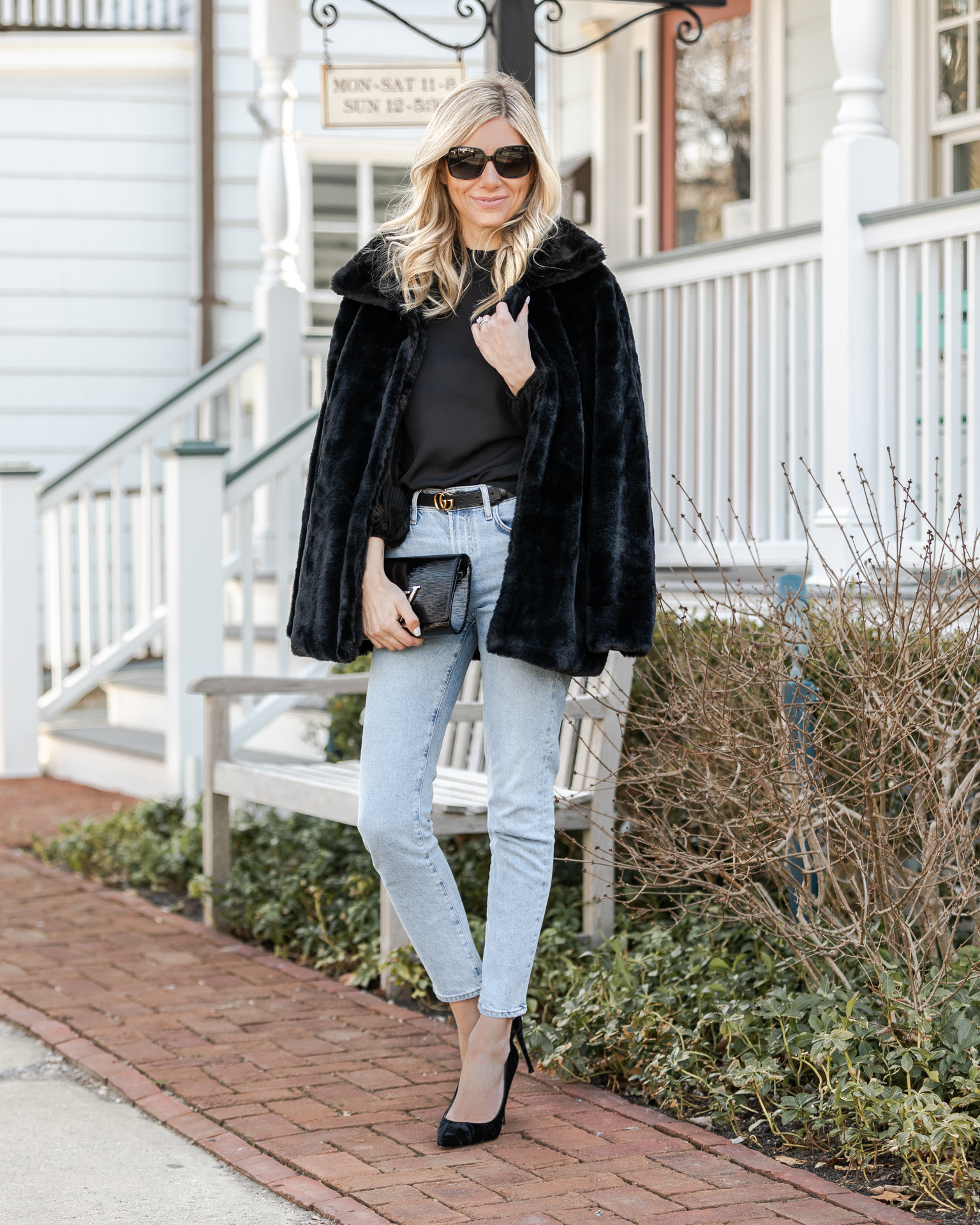 faux-fur-black-jacket-under-$30-the-glamorous-gal