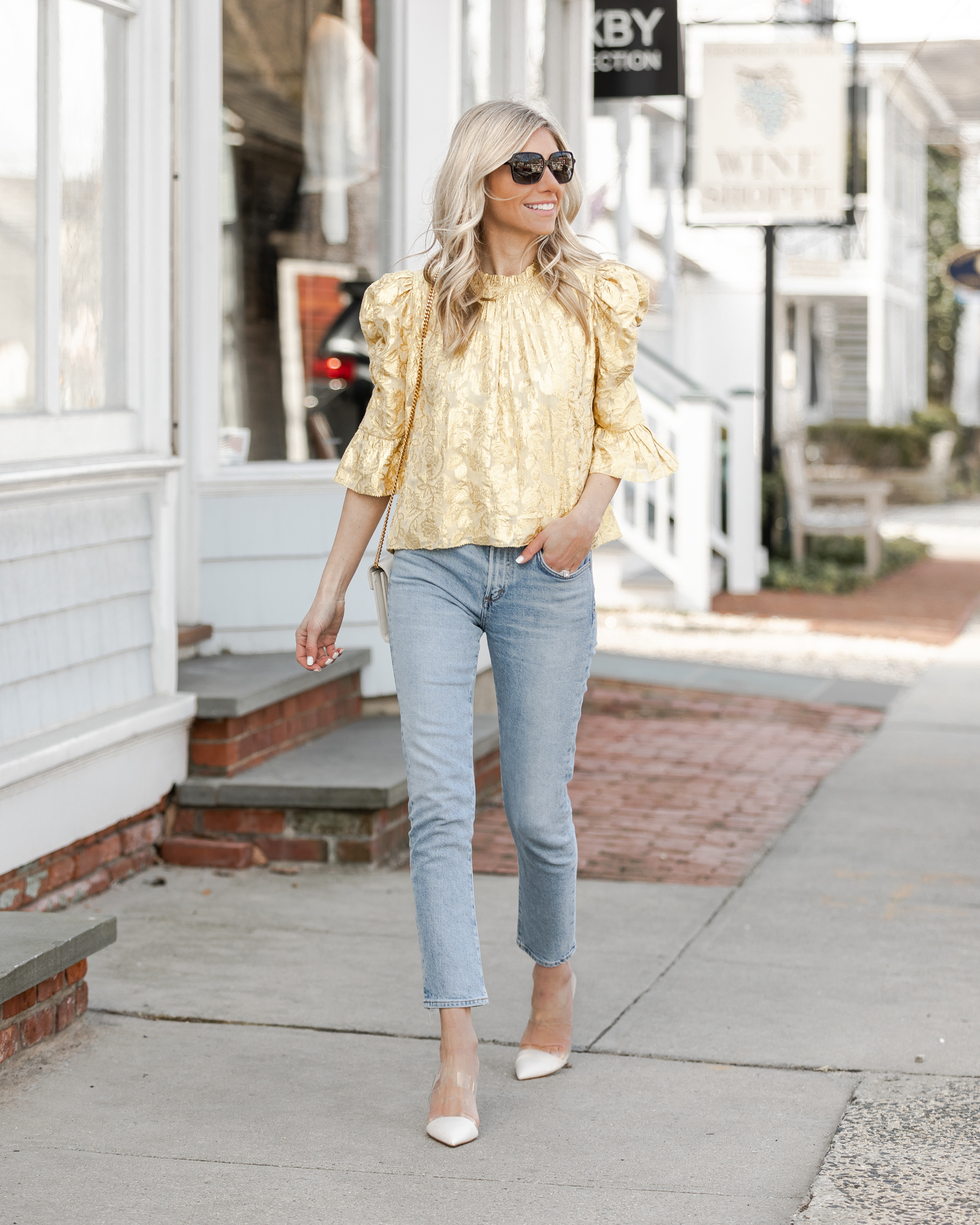 high-neck-puff-sleeve-top-the-glamorous-gal