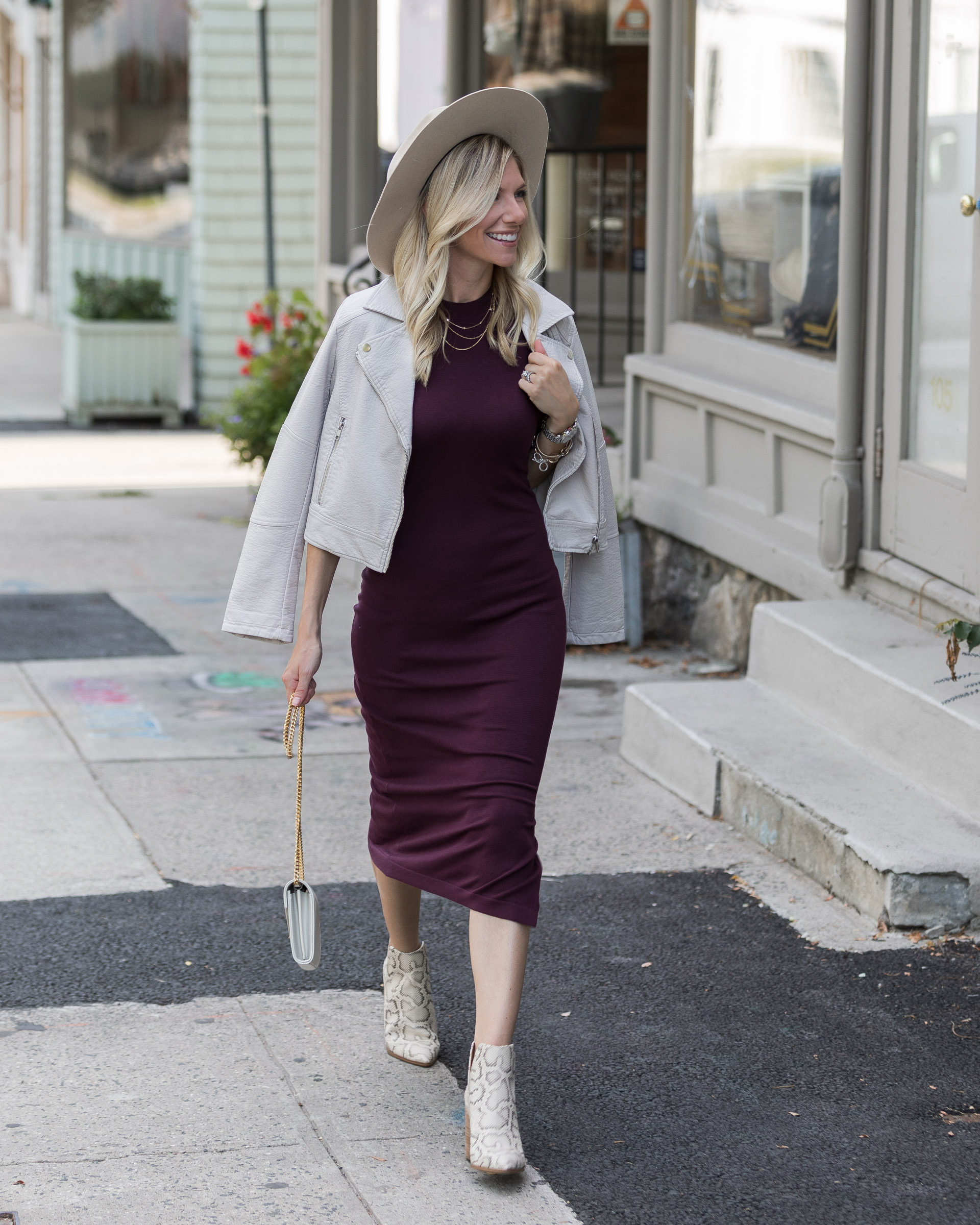 how-to-style-a-midi-dress-for-falll-the-glamorous-gal