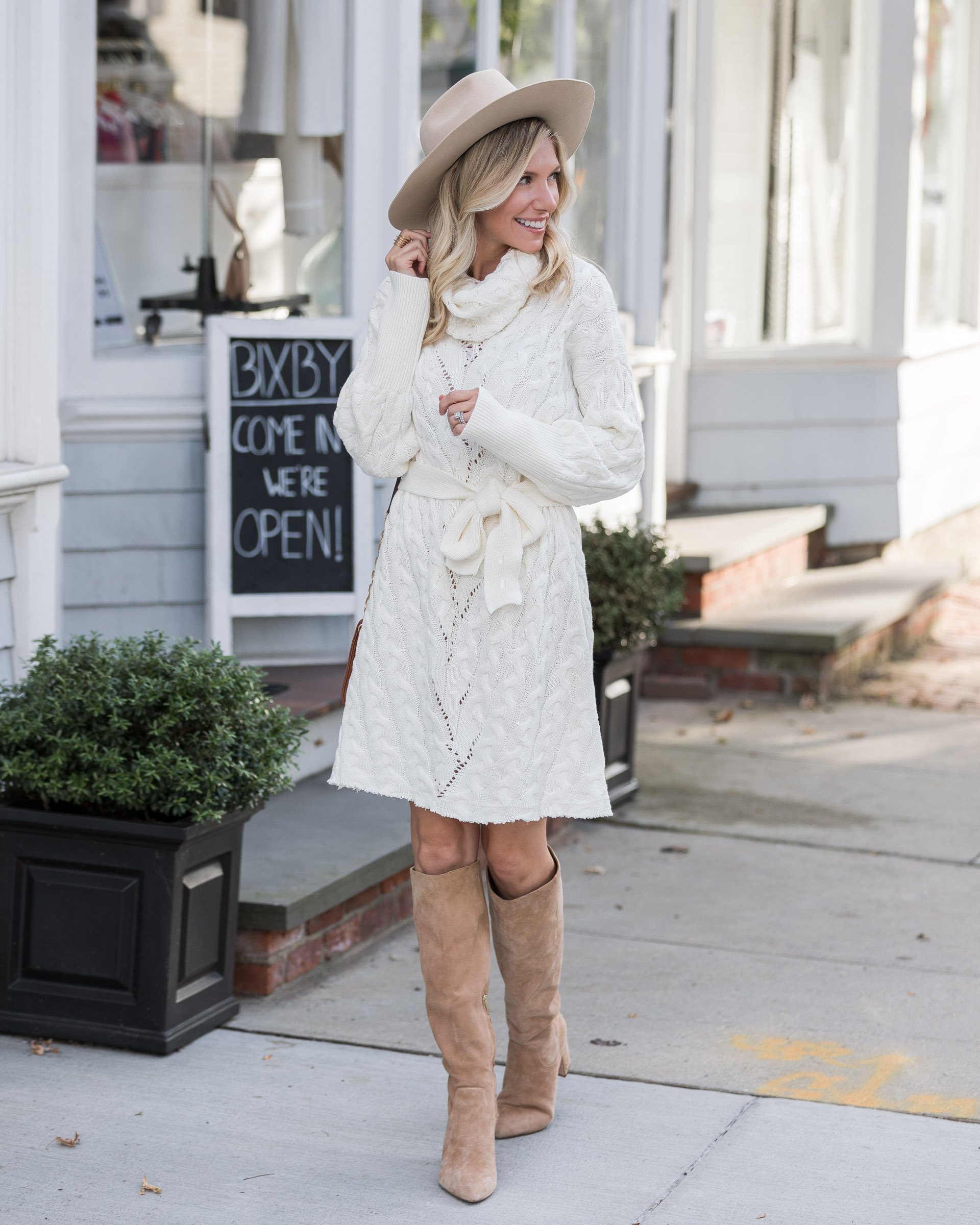 cozy-fall-sweater-dress-and-boots-the-glamorous-gal