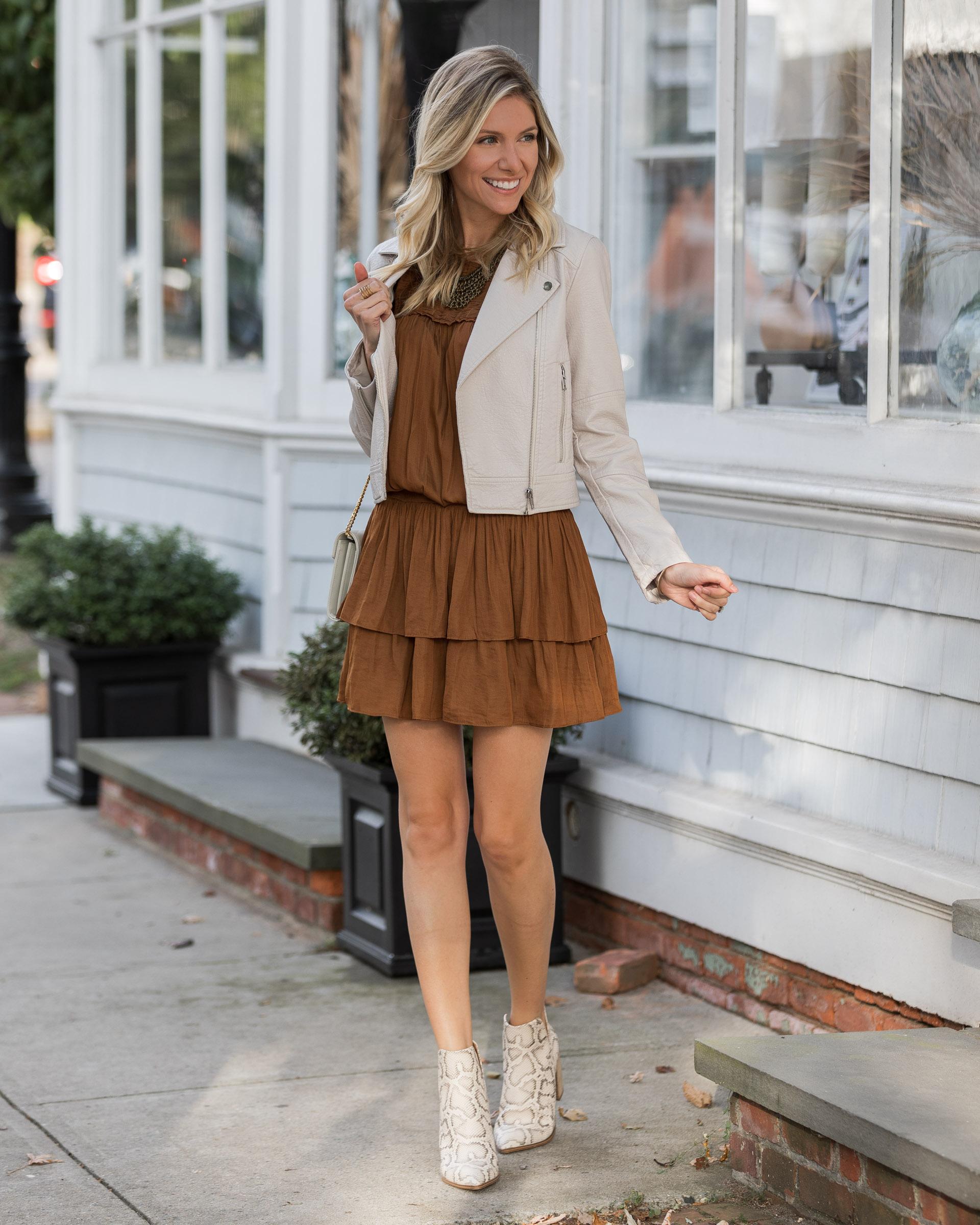 rust-ruffle-dress-for-fall-the-glamorous-gal