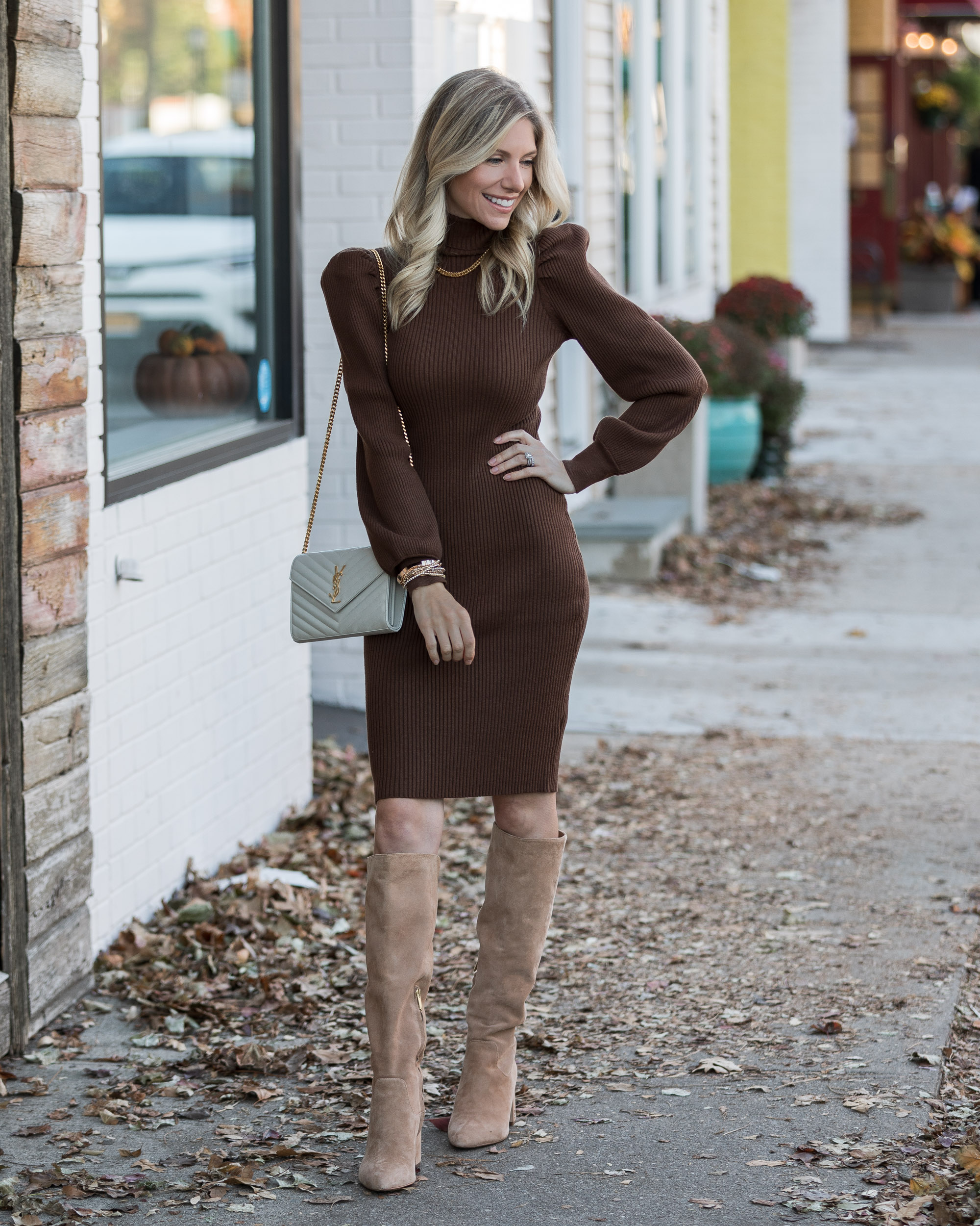 neutral-brown-sweater-dress-from-just-fab-the-glamorous-gal