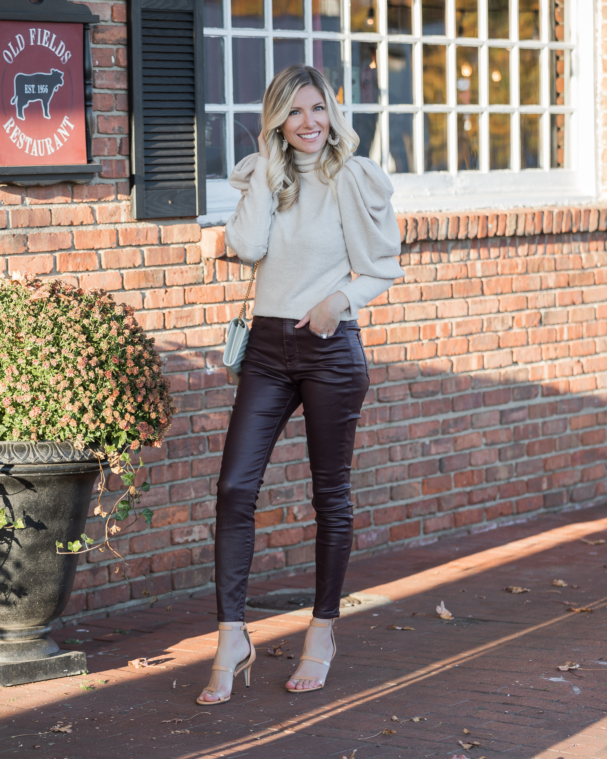 puff-sleeve-sweater-and-faux-leather-jeans-from-express-the-glamorous-gal