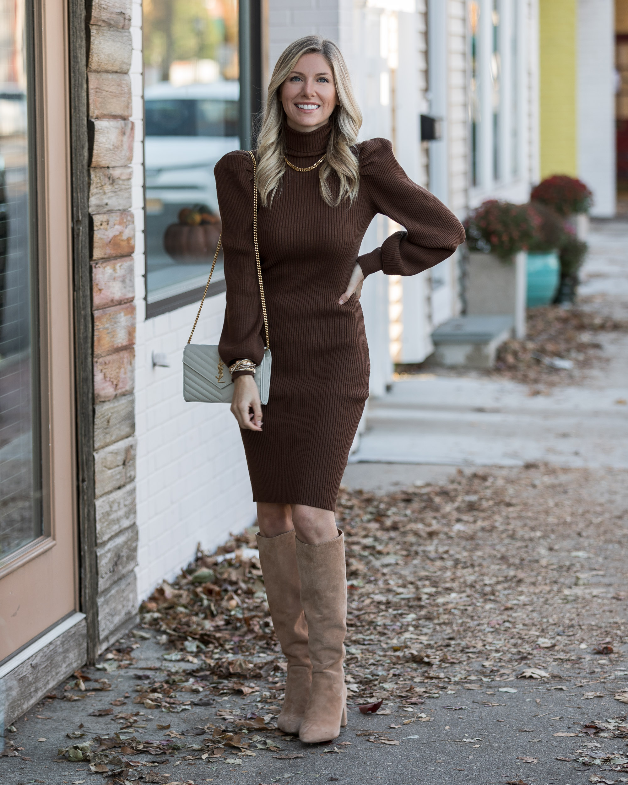 sweater-dress-and-over-the-knee-boots-for-thanksgiving-the-glamorous-gal