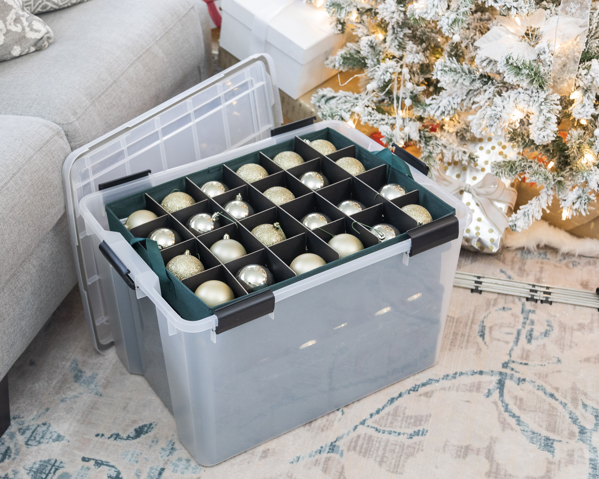 container-store-christmas-ornament-storage-the-glamorous-gal