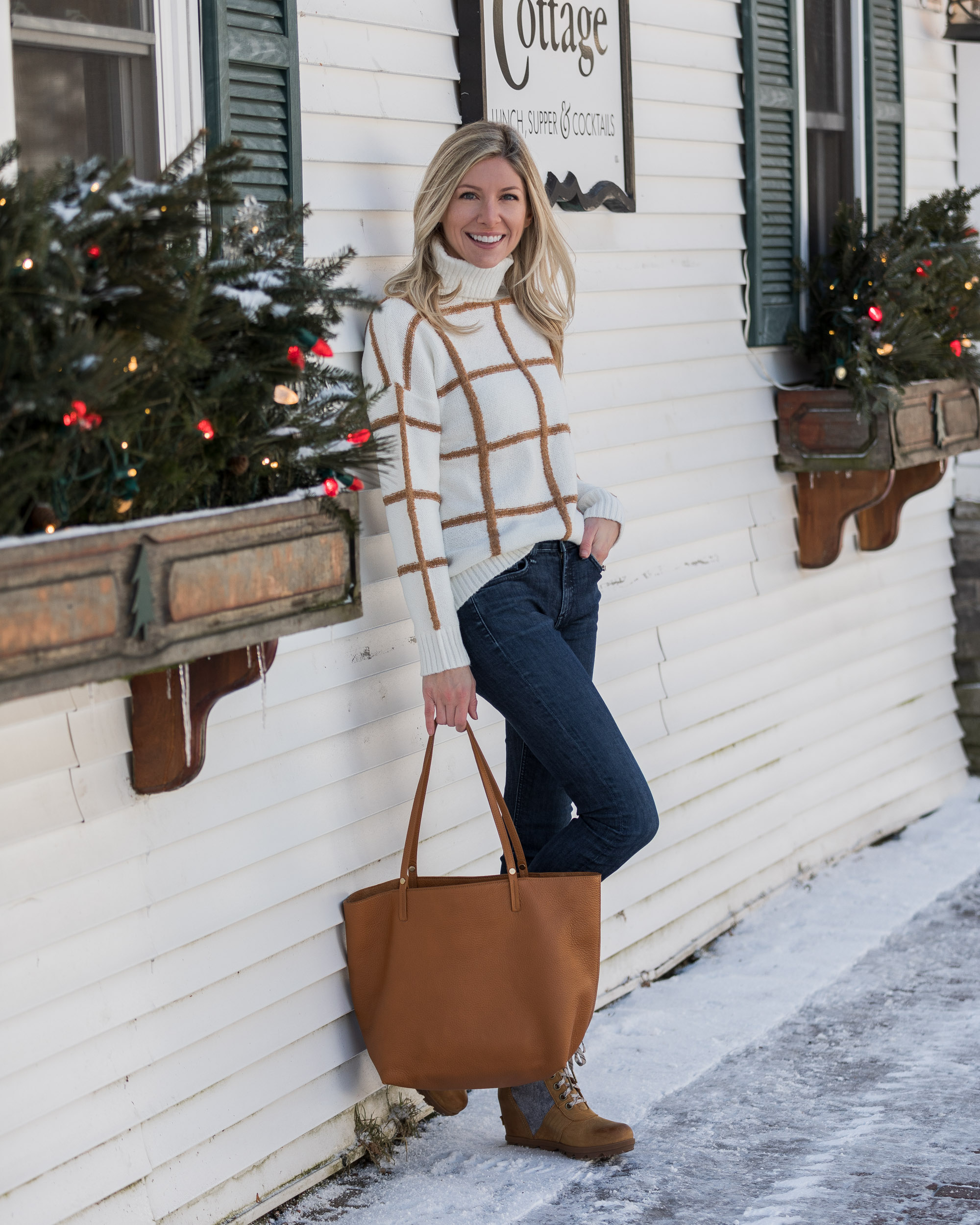 versona-windowpane-sweater-the-glamorous-gal