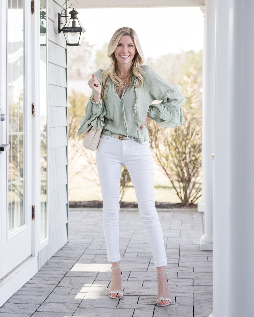 just fab mint flowy top the glamorous gal
