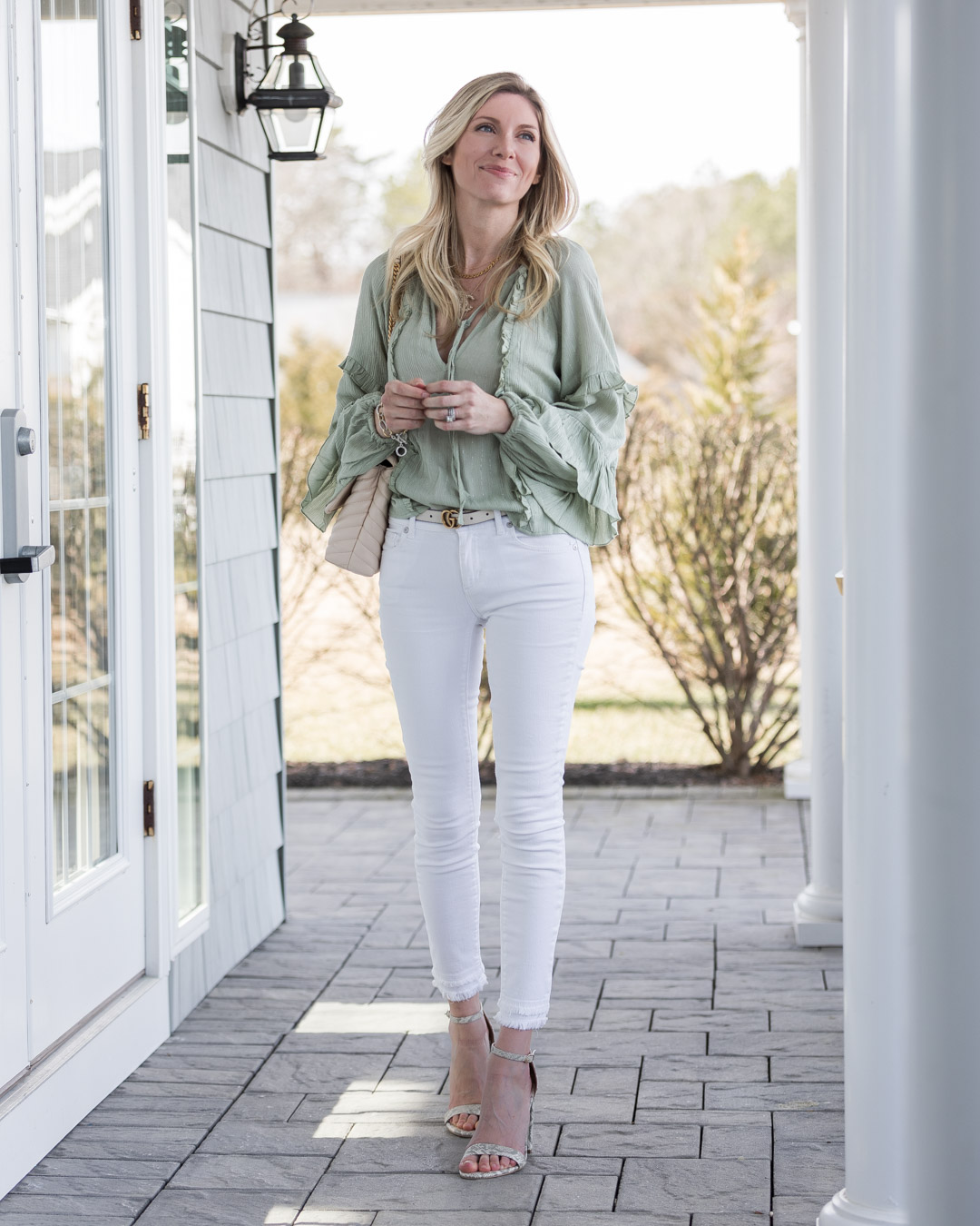 mint flowy top from just fab the glamorous gal