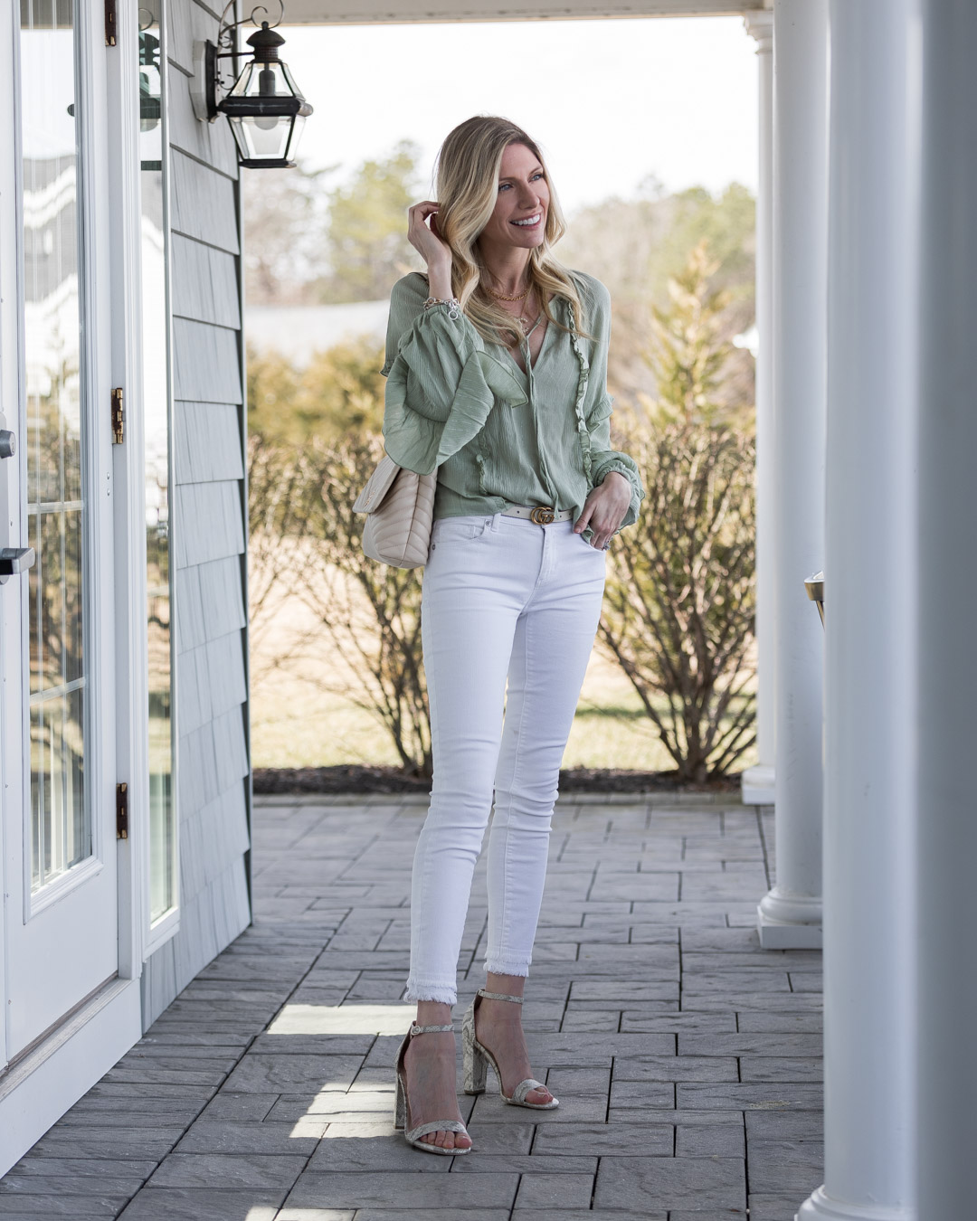 perfect spring outfit from just fab the glamorous gal