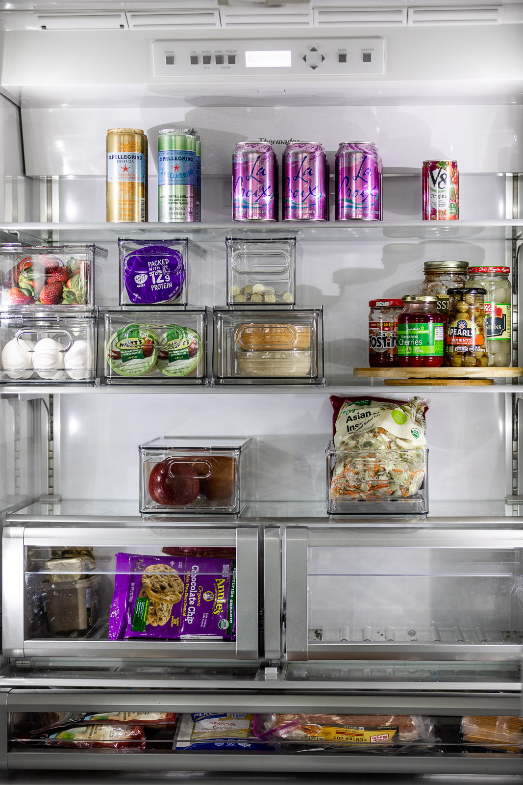 refrigerator-organization-with-container-store-The-Glamorous-Gal
