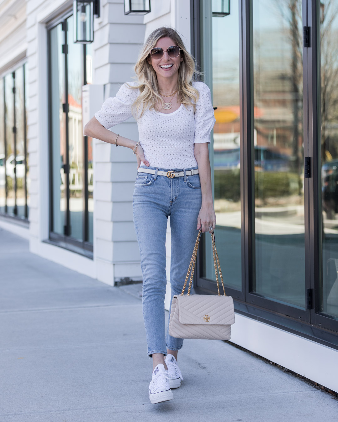 spring outfit ideas with express the glamorous gal