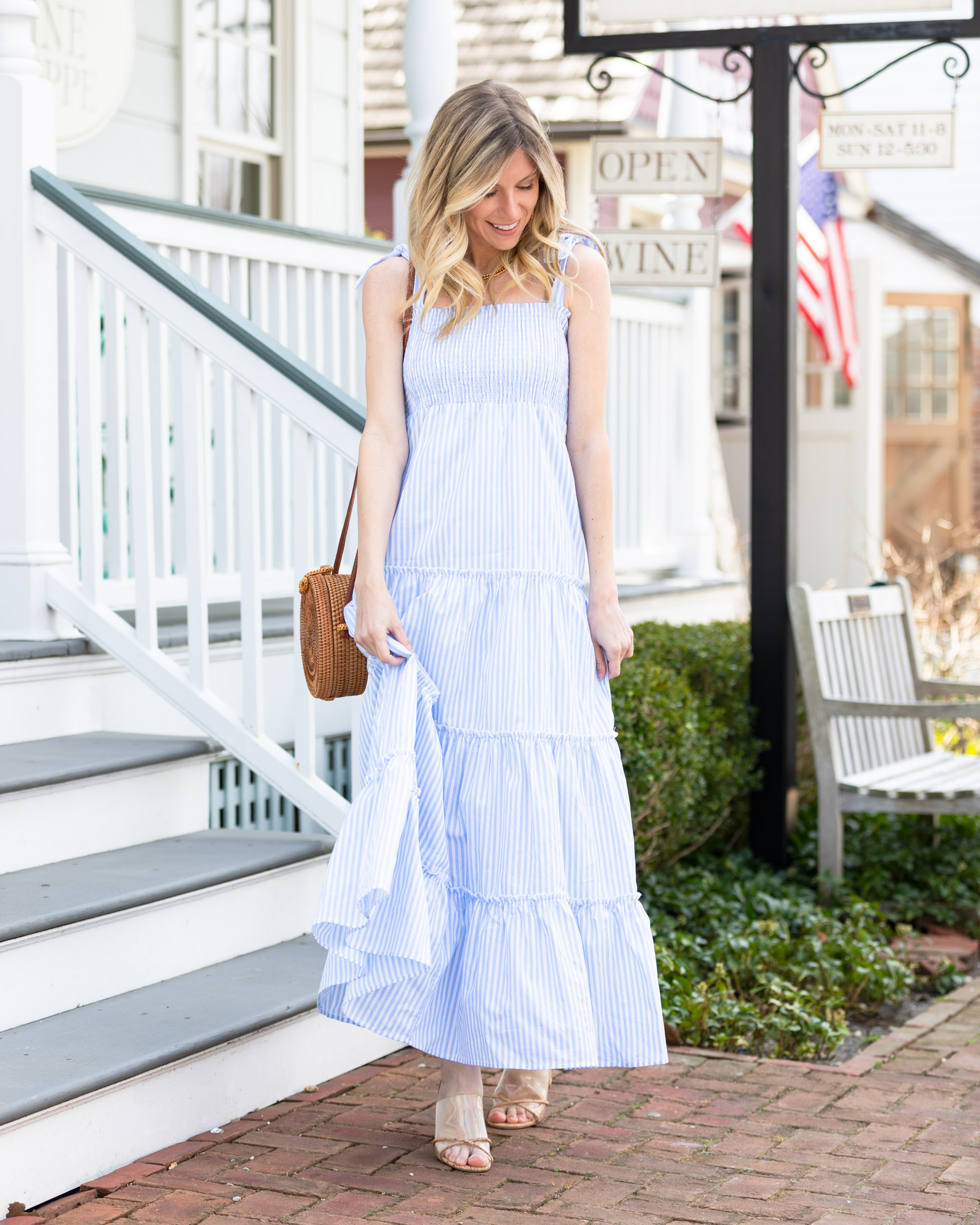 cmcoving-x-pink-lily-boutique-striped-blue-and-white-sundress-the-glamorous-gal