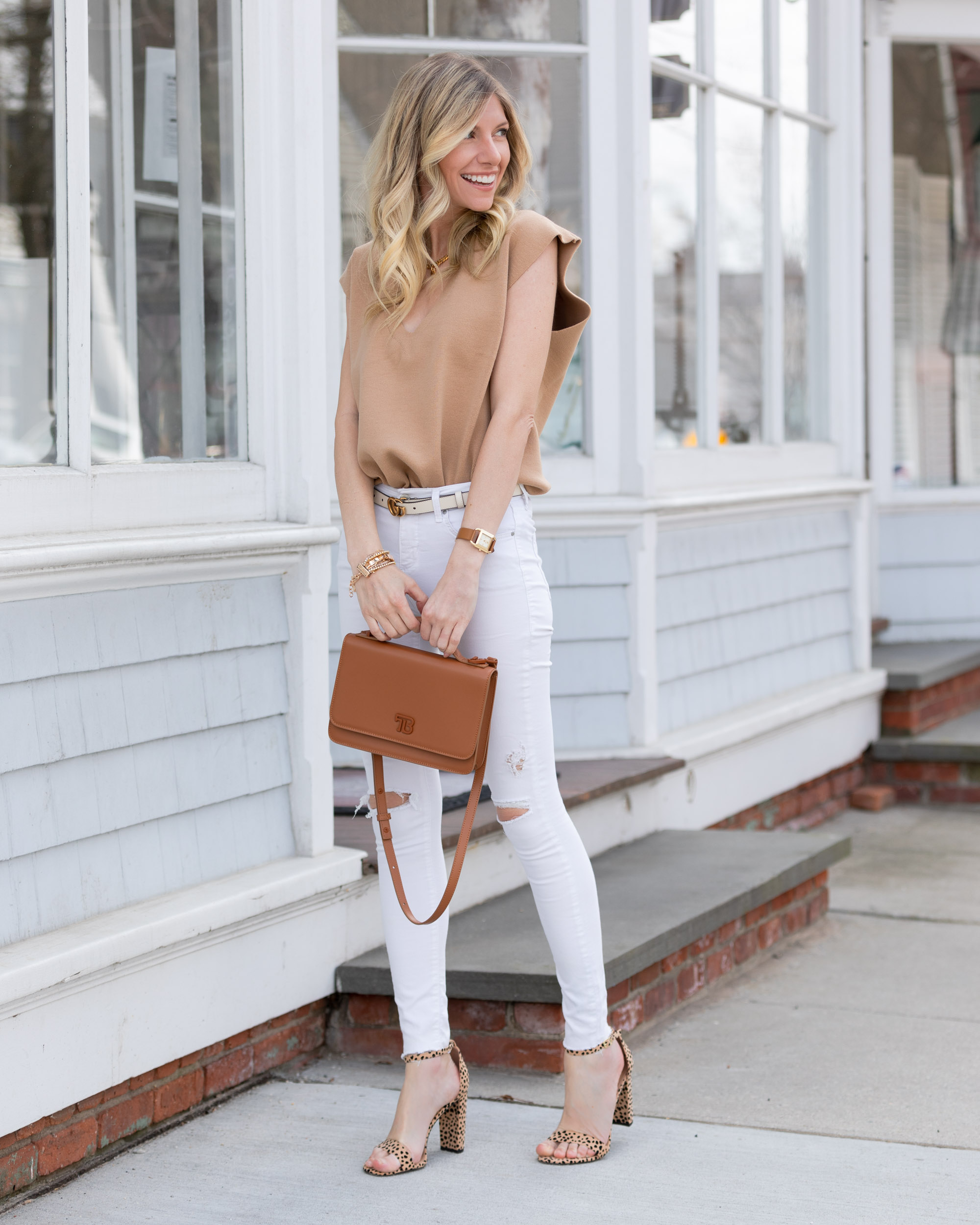 neutral-camel-top-and-white-jeans-the-glamorous-gal