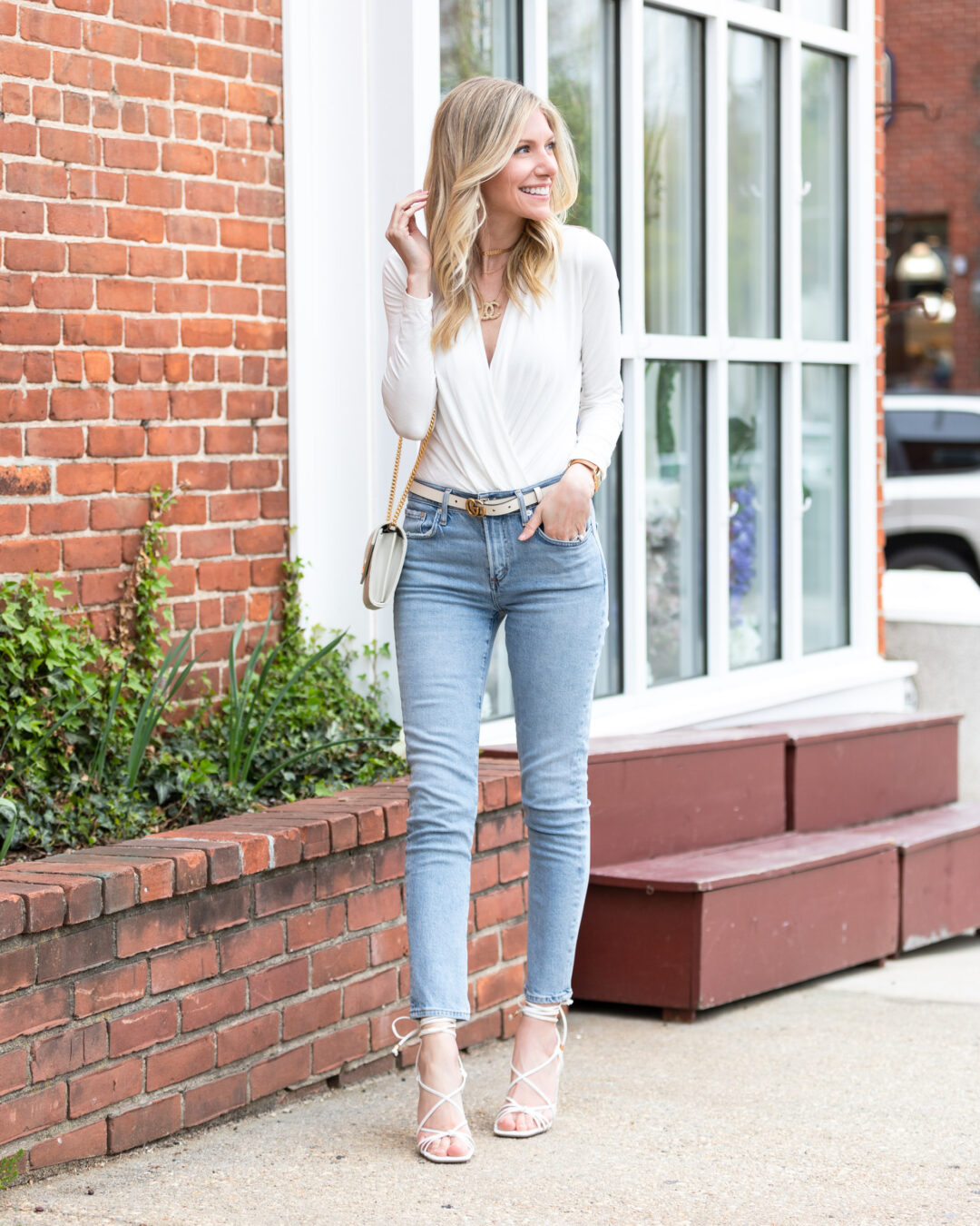 white-bodysuit-and-strap-heels-the-glamorous-gal